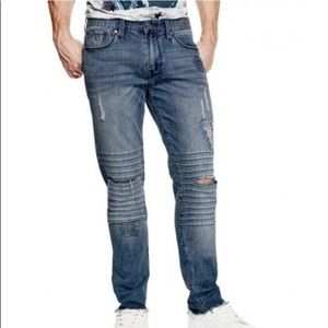 New Guess Men's Slim Tapered Destroyed Jeans SZ 32